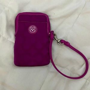 2 for $25– Pink Coach wristlet/wallet & phone case